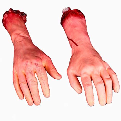 ay Ganze Person Prop Terroristische Requisiten Unheimlich Echtes Blut Gebrochene Hand Trickreich Spielzeug ()