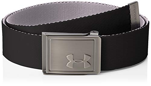 Under Armour Herren Webbing 2.0 Gürtel Schwarz/Zinc Gray/Silver (002) One Size