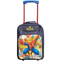 Worldcraft Spiderman 15 inch Waterproof Trolley Hybrid Children's Backpack (Blue)