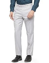 RG Designers Men Light Sliver Pencil Slim Fit Formal Trousers_RGDSSCNatureCare1_LightSliver