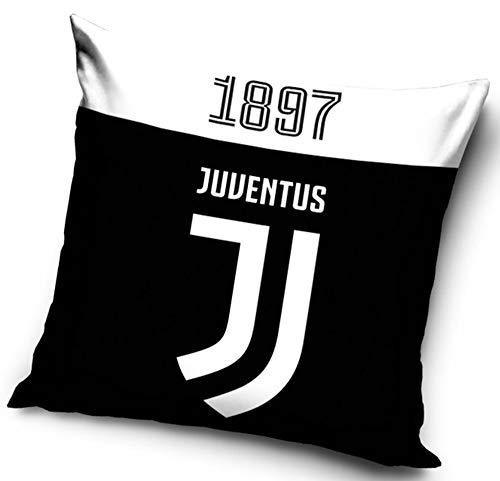 Cuscino Ufficiale Juventus Since 1897 Nuovo Logo Juve JJ 40 cm x 40 cm Double Face