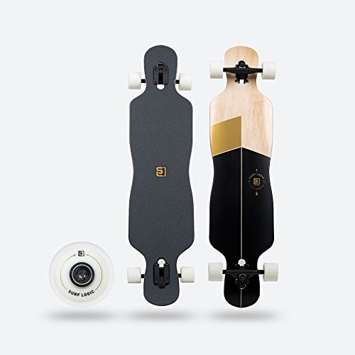Surf Logic Drop Through Longboard Surf Black - Chilli24® Special Edition inkl. Gratis Skatetool