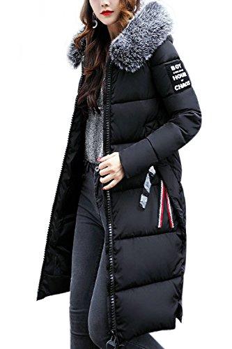 Les Poches De Manteau À Capuche Ferme Matelassée Veste Vêtements Black