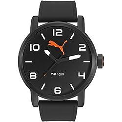 936bb3788 Puma Alternative Round - Reloj análogico de cuarzo con correa de silicona para  hombre