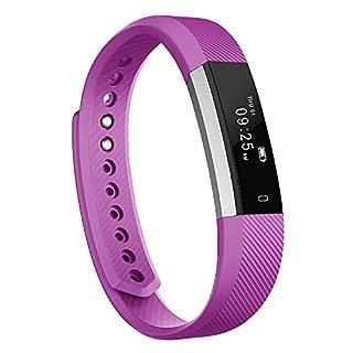 moreFit Slim Fitness Tracker Touch Screen Beste Pedometer Smartband Schlaf-Monitor-Uhr/Step Tracker/Kalorienzähler/Aktivität Tracker für iPhone iOS und Android Phone (Lila)