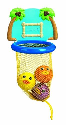 Munchkin - Bath Dunkers Basketball-Set mit Korb und Fischen Badespielzeug (12 Korb Net)