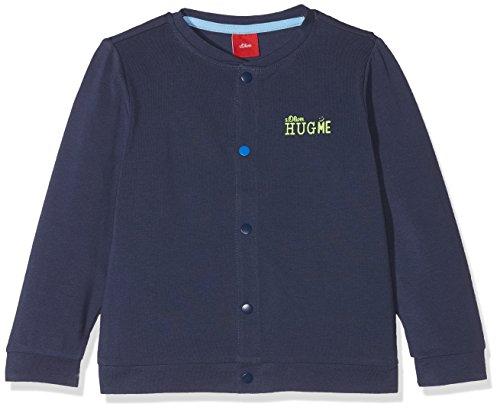 s.Oliver Baby-Jungen Sweatjacke 59.806.43.4933 Blau (Dark Blue 5816) 80