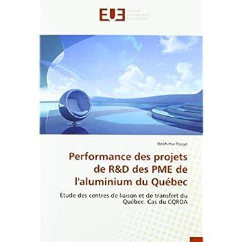 Performance des projets de R&D des PME de l'aluminium du Québec: Étude des centres de liaison et de transfert du Québec. Cas du CQRDA
