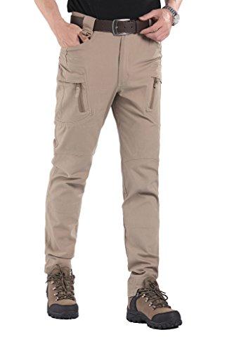 Lorata Pantaloni Lunghi Sport e Tempo Libero Casual da Uomo Escursionismo e Campeggio Arrampicata A Prova di Vento Anti-UV Sportivi Cachi