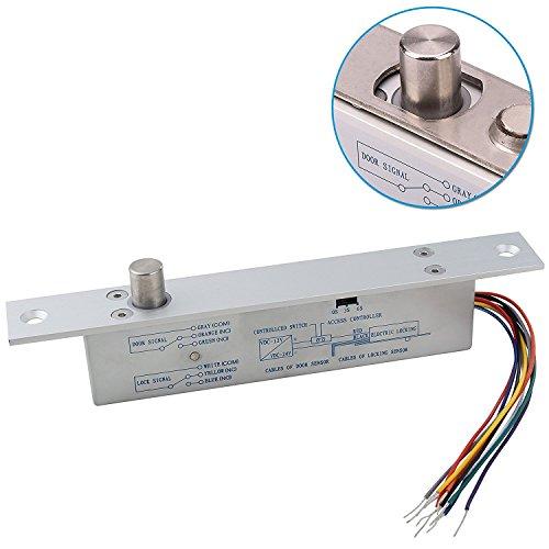 Drop-tür (Generic keine Fail Sichere DC12V Riegel Electric Drop Bolt Plug schmal Tür Lock Zeit offen Draht)