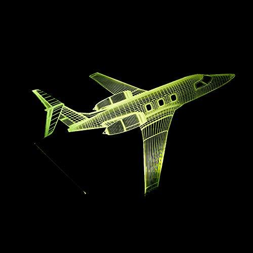 Fernbedienung Flugzeug Flugzeug 3D LED Tischlampe Optische Täuschung Nachtlicht 7 Farben ändern ## 4