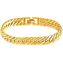 e6fc03dcdb30 MGS Pulseras Hombre Cadenas y esclavas Brazalete - Chapado en Oro Estilo  Simple