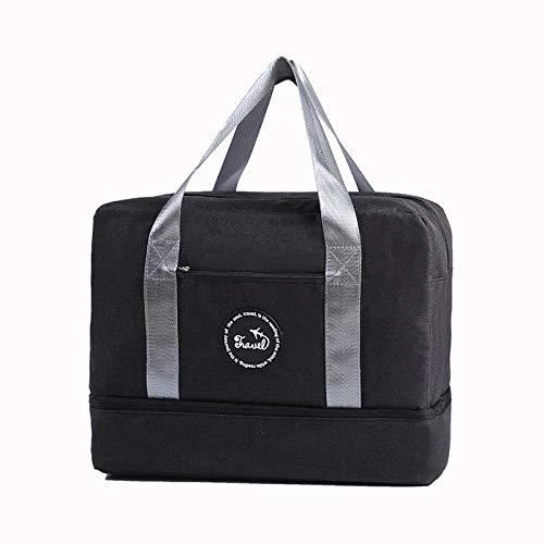 Yecia Reise-Kosmetiktasche Trocken- und Nassabscheidung Tragbare Box mit großer Kapazität Aufbewahrungstasche for Spezialwaschmittel Wasserdichter Multifunktions-Reißverschluss Reise-Outdoor-Make-up-E