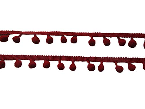 YCRAFT - Cinta costura pompones anchos flecos bolas