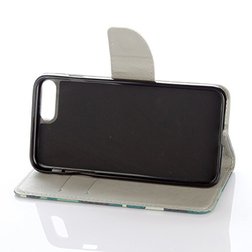 Voguecase® Pour Apple iPhone 7 4,7 Coque, Etui Housse Cuir Portefeuille Case Cover (London)de Gratuit stylet l'écran aléatoire universelle Camo