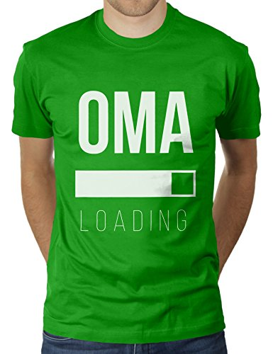 Oma Loading - Baby Unterwegs Schwangerschaft - Herren T-Shirt von KaterLikoli, Gr. S, Apple Green - Big Apple Baby T-shirt