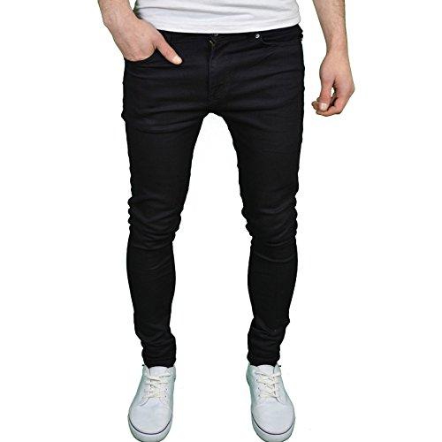 Enzo Herren Jeanshose Schwarz Schwarz 32 W/34 L (Jeans New Mens Straight)