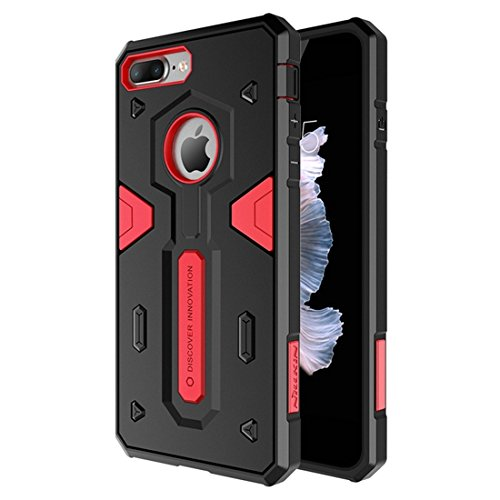 IPhone 7 Plus Fall NILLKIN Tough Defener II Gehäuse Shockproof TPU + PC Kombi Hülle für iPhone 7 Plus by diebelleu ( Color : Red ) Red