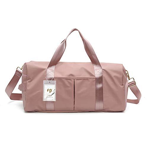 FEDUAN Damen Trainingstasche Fitnesstasche Damen Gym Tasche Sporttasche Reisetasche schwimmtasche mit Schuhfach/Nass - Trocken- Trennung 49 * 22 * 25 cm (Rosa)
