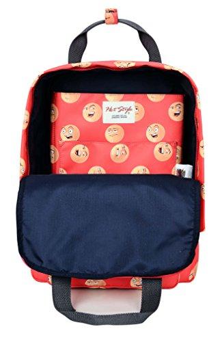HotStyle Paisley Damen Rucksack mit Laptopfach 14 zoll (40x29x14cm) D164A, Emoji