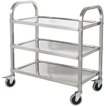 ikea flytta k chenwagen aus edelstahl 98x57 cm k che haushalt. Black Bedroom Furniture Sets. Home Design Ideas