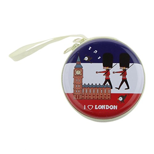 London Parade Zipper Round Headphones / Coin Purse Wallet Pouch Bag Key Holder For Birthday Gifts   Return Gifts   Utillity  available at amazon for Rs.149