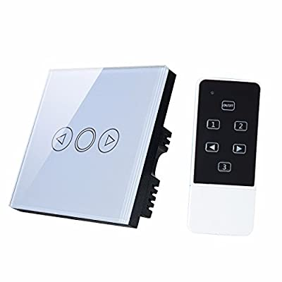 1 Way 1 Gang LED Dimmer Switch, [ with Remote Control + Luxury Crystal Tempered Glass Touch Panel ] Wall Smart Switches for Dimmable Lights by Discoball® - cheap UK light shop.