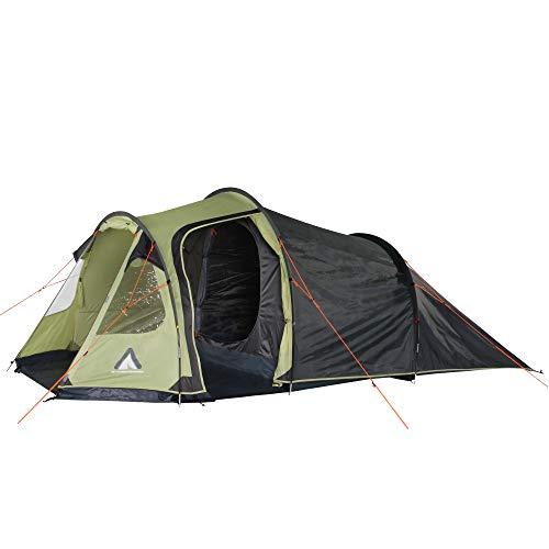10T Zelt Mandiga Beechnut 4 Mann Tunnelzelt wasserdichtes Campingzelt 5000mm Familienzelt + Stehhöhe