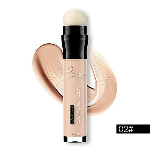 ESAILQ Face Eye Foundation Concealer Highlight Contour Pen Stick Makeup Natrual Creme (B) (Highlight Make Up Sticks)