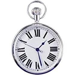 Personalised Silver Plated Pocket or Pendant Watch in a Gift Box FREE ENGRAVING