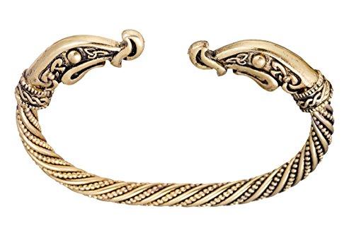 Dragon Head (Ancient nordischen Animal Dragon Head Bohemia Stil Drehmoment Manschette Armband für Herren/Frauen Schmuck)
