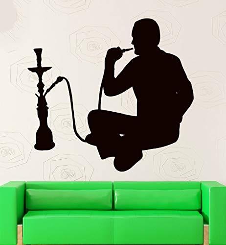 Wandaufkleber Schlafzimmer Rauchendes arabisches Café-Shisha-Abziehbild für Musikverein