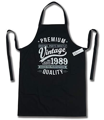 My Generation Gifts 1989 Vintage Year - Aged To Perfection - 30 Cumpleaños Regalos / 30 años Delantal para Hombre Negro