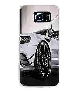 PrintVisa Designer Back Case Cover for Samsung Galaxy S6 Edge :: Samsung Galaxy S6 Edge G925 :: Samsung Galaxy S6 Edge G925I G9250 G925A G925F G925Fq G925K G925L G925S G925T (Wheels Head Lights Bonnet Formula 1)