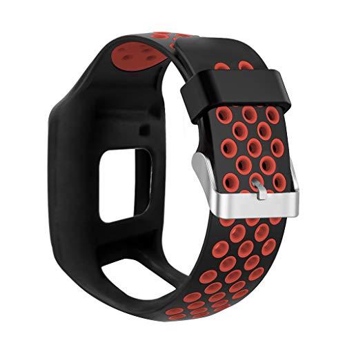 Kafen Bisel,Correa De Silicona Suave Correa De Muñeca Reemplazo De La Pulsera para Tomtom 1 Multi-Sport GPS HRM CSS Am Cardio Runner Reloj Accesorios