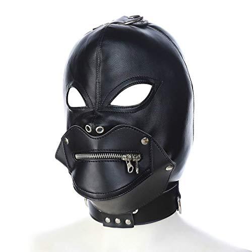 Sombrero De Cuero Negro PVC SM Máscara De Unión BD Adecuado para Hombres Y Mujeres Maquillaje Bola De Vestir