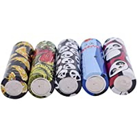 Pre Cut 18650 Battery Wraps Films Cover Protective Sleeve Heat Shrink Wraps Tubing Tube Film Skin for 18650 Rechargeable Batteries, 5 Styles (50pcs)