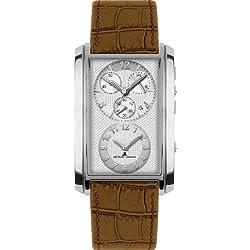 Jacques Lemans Format Dualtimer 1-1392B Gents Brown Leather Strap Watch