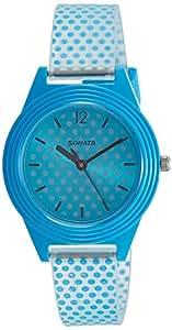 Sonata Analog Blue Dial Girl's Watch-87024PP04