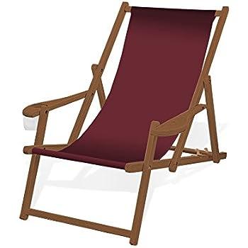 Liegestuhl deckchair akazienholz klappbar for Dunkelbrauner stuhl