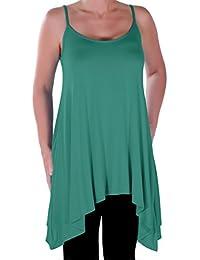 Eyecatch Übergröße - Seattle Damen-lange Strappy Frauen Asymmetrische Leibchen Cami Kleid Top 40 - 58