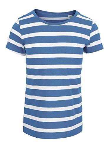 Maratus Mädchen Bio T-Shirt aus Baumwolle 98-104/weiß/blau (100% Bio-baumwolle Shirt)