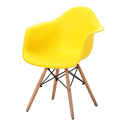 ANDIAOG-CHAIR-Home Dining Chair Kleine Wohnung Einfache Computer Lounge Chair Sessel Nordic Chair Bürostuhl Home Bequem (Color : Yellow) -