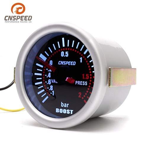 CNSPEED YC101310 Numérique Universel 52mm Voiture Turbo Boost Vacuum -1~2 BAR Gauge Presse Jauge de Pression Compteur Fumée Len LED