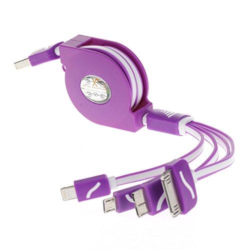 4in 1Multi Ladegerät, Multi USB Ladegerät Kabel (Stecker/Adapter), Premium Qualität 4in 1Mehrere USB Ladekabel Adapter Anschluss mit Lightning und Micro-USB für iPhone 6/6S, 6Plus/6S Plus, 5/5S/5C/SE, 4G/3G, iPad 2/3/4, iPad Air, iPad Mini, iPad 4.