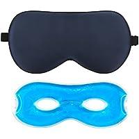 Schlafmaske Herren und Frauen,AJOXEL Augenmaske Kühlend aus seide mit Kühlkissen zum Wärmen und Kühlen Premium... preisvergleich bei billige-tabletten.eu