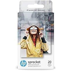 HP ZINK Papier Photo (20 feuilles, 5 x 7,6 cm, dos autocollant)