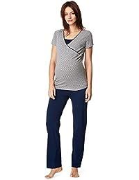 Noppies Nursing Schlafanzug Anika Sleep Shirt + Hose/Pyjama Nachtwäsche Still- Umstandsschlafanzug 66604-66600
