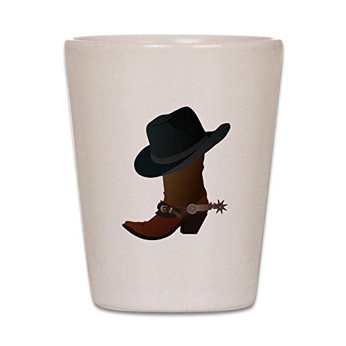 (CafePress–Western Stiefel und hat Icon–Schnapsglas, Einzigartige und Funny Shot Glas weiß)