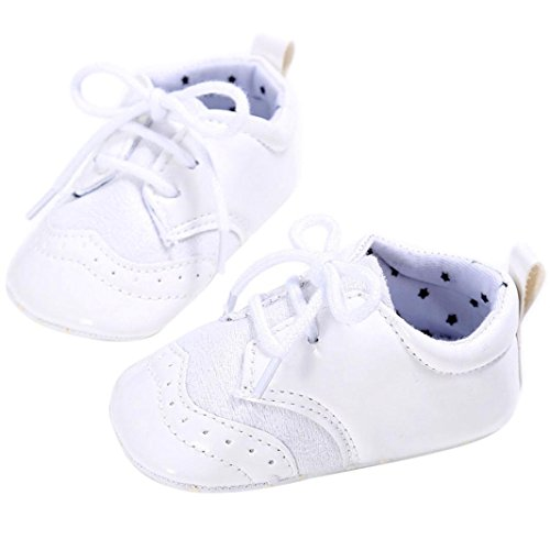 Igemy 1Paar Baby Säugling scherzt Mädchen Jungen weiche alleinige Krippe Kleinkind Neugeborene Schuhe White